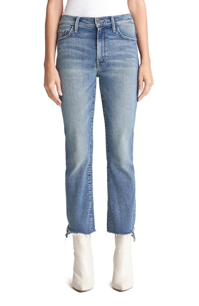 MOTHER The Insider High Waist Crop Step Fray Jeans