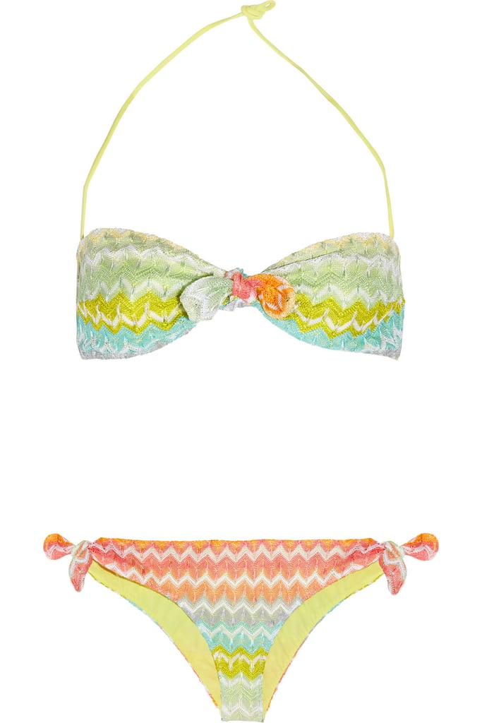 You can't get much sexier than a crochet bikini; work the look with a pair of denim shorts or a floaty, gauzy dress.  Missoni Calais Crochet-Knit Bandeau Bikini ($405)