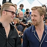 Ryan Gosling Bares His Chest and Unique Fashion Sense at Cannes Drive Photo Call