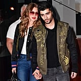 While Gigi and Zayn nailed the bomber trend.
