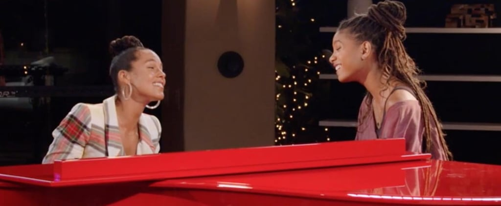 Alicia Keys and Willow Smith Red Table Talk Duet Video