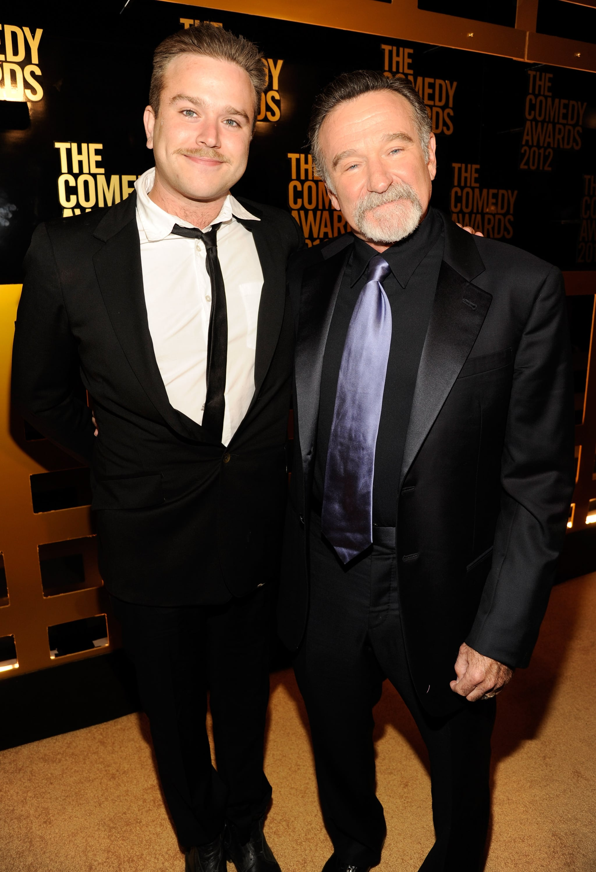 NEW YORK, NY - APRIL 28:  Zachary Pym Williams and Robin Williams attend The Comedy Awards 2012 at Hammerstein Ballroom on April 28, 2012 in New York City.  (Photo by Kevin Mazur/WireImage)