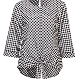 Gingham Tie Front Blouse, $79.95
