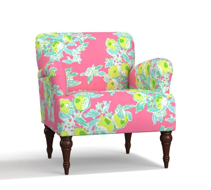 Hadley Upholstered Armchair | Pottery Barn and Lilly Pulitzer ...