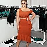 She Wore This Rust-Orange Lavish Alice Set For a Meet and Greet