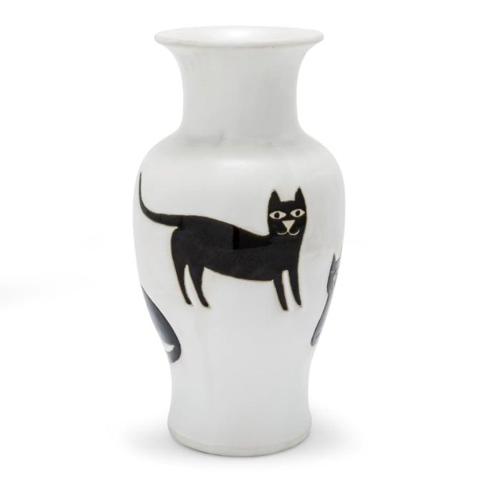 Black Cat Vase