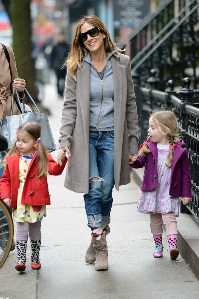 Sarah Jessica Parker stepped out with her daughters, Loretta and Tabitha.