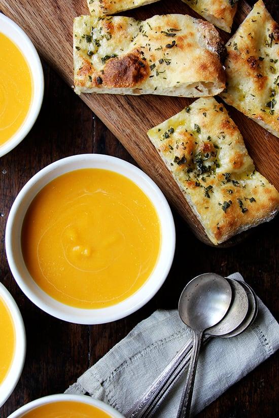 Cider-Spiked Butternut Squash Soup
