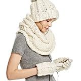 Rebecca Minkoff Cable Knit Tech Beanie With Fur Pom-Pom ($72)