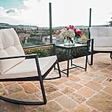 Suncrown Outdoor 3-Piece Rocking Wicker Bistro Set