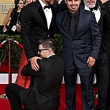 Bradley Cooper Getting a Friendly Crotch Hug
