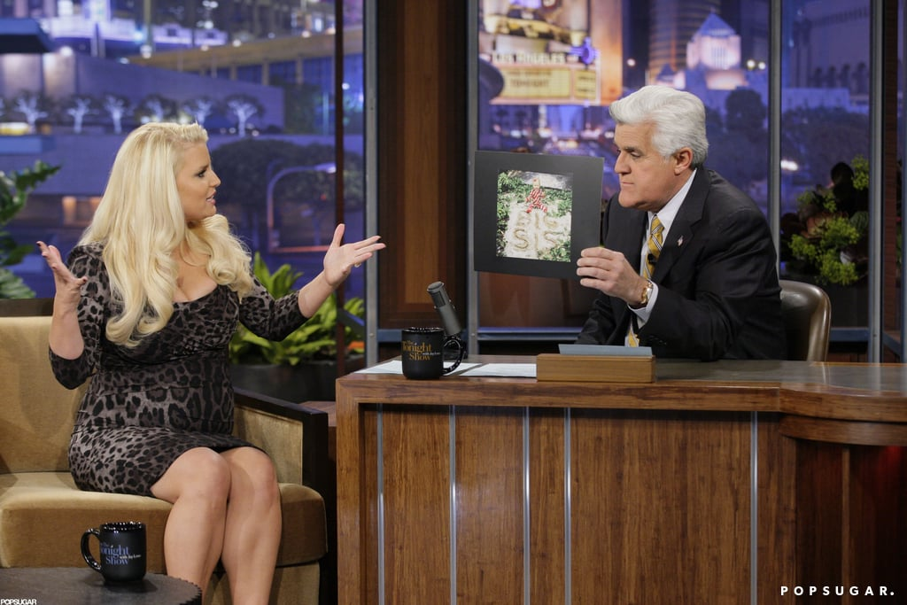 Jessica Simpson talked with Jay Leno on The Tonight Show.