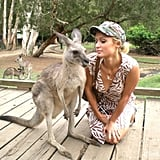 Paris Hilton made friends with a kangaroo during a trip to Australia. Source: Twitter user ParisHilton