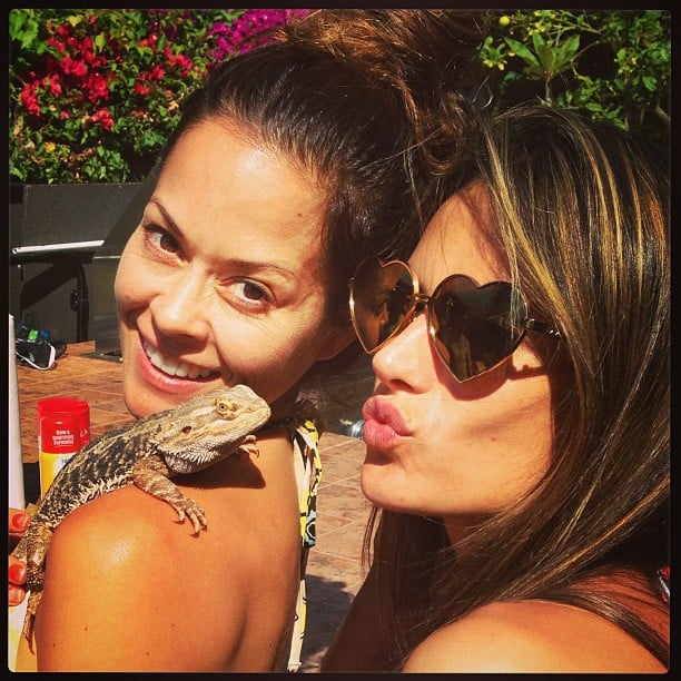 Alessandra Ambrosio and Brooke Burke spent time with a scaly pal on the Fourth of July. Source: Instagram user alessandraambrosio
