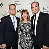 Matt Damon had the support of Frances Fisher and Scott Bakula at the event.