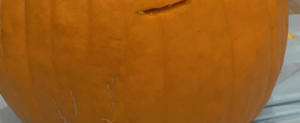 Lazy Kid's Pumpkin Carving Jack-o'-Lantern