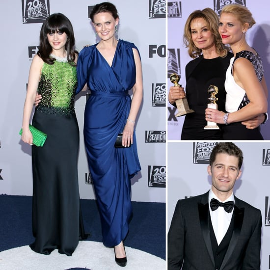 Zooey Deschanel Mingles With Winners Claire Danes and Jessica Lange at Fox Searchlight's Globes Party
