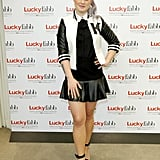 Kelly Osbourne wore a varsity jacket to step out for Lucky's FABB event.