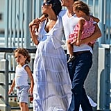Matthew McConaughey, Camila Alves, Levi McConaughey, and Vida McConaughey had a Summer Sunday in NYC.