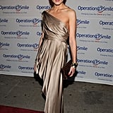 A golden goddess moment at the Operation Smile Gala in May 2008.
