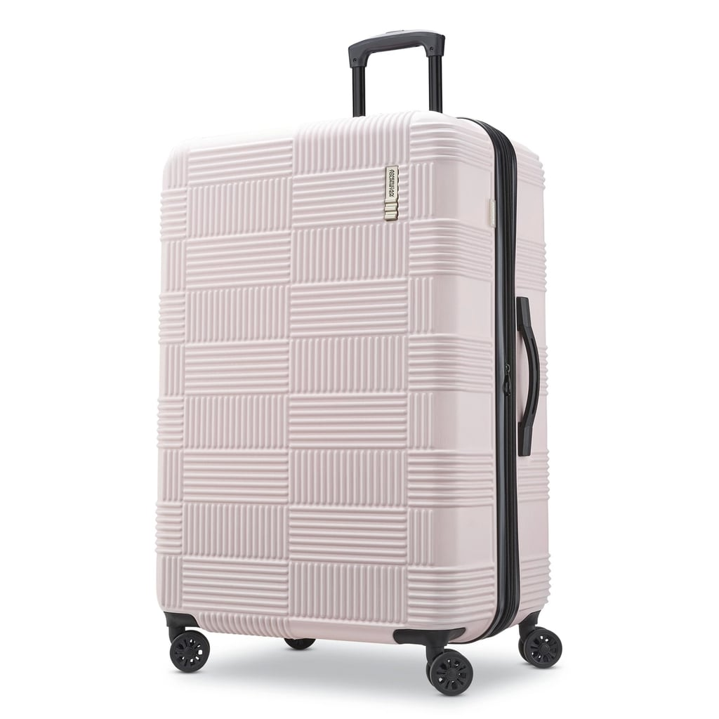 6174a9b700 American Tourister 28-Inch Checkered Hardside Suitcase in Pink ...