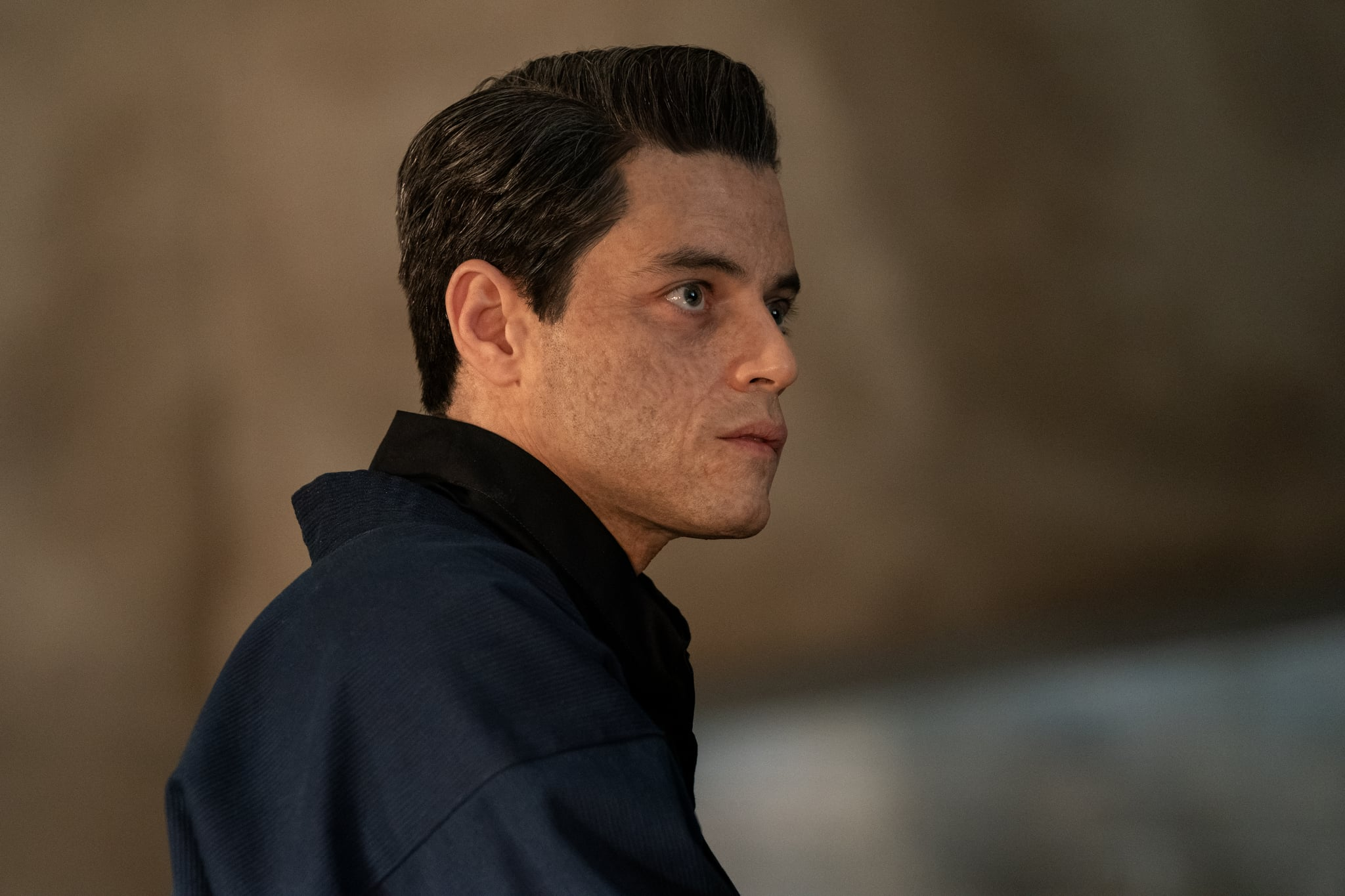 B25_25403_RCSafin (Rami Malek) inNO TIME TO DIE, a DANJAQ and Metro Goldwyn Mayer Pictures film.Credit: Nicola Dove© 2019 DANJAQ, LLC AND MGM.  ALL RIGHTS RESERVED.