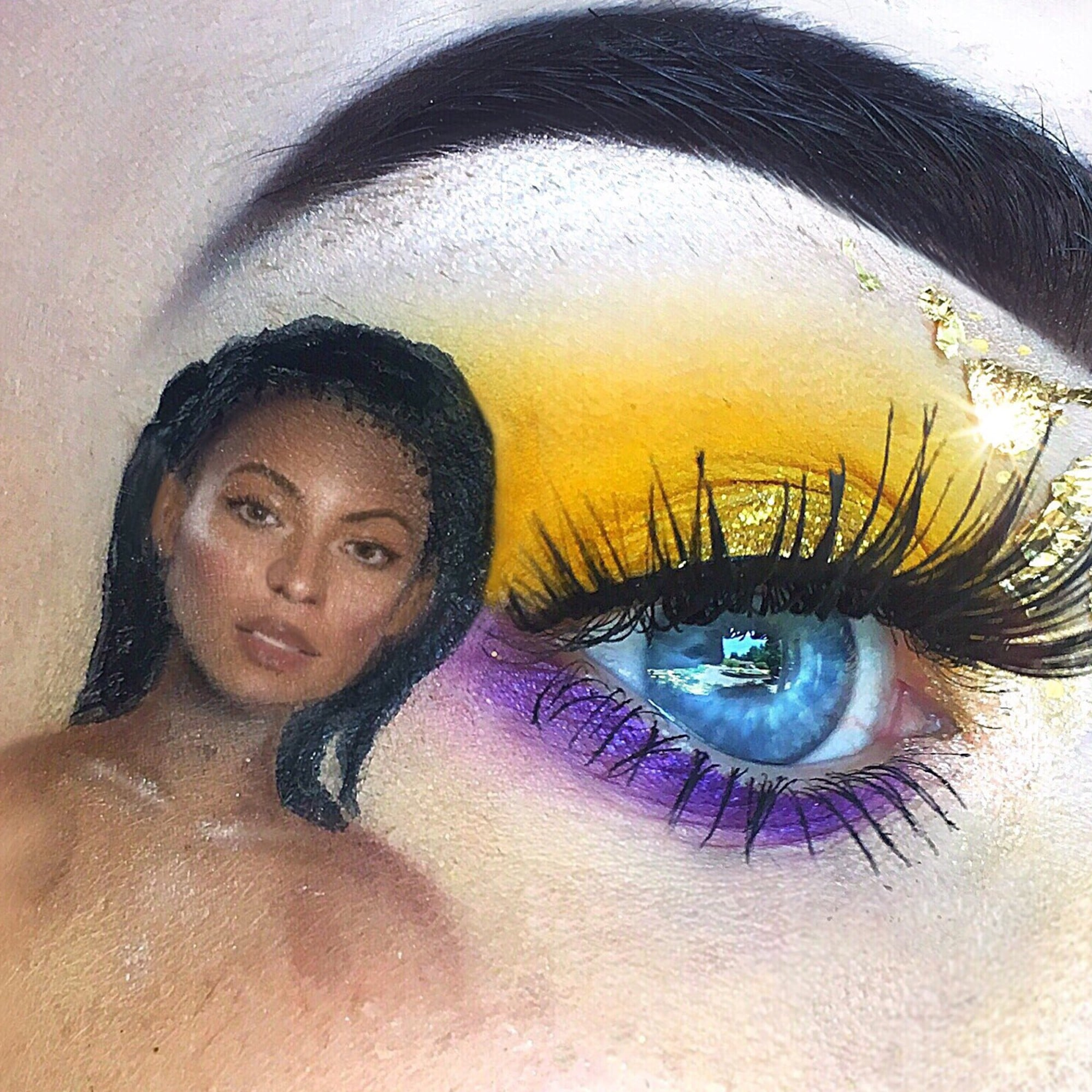 Teen Uses Makeup To Draw Celebrities On Her Eyes Popsugar