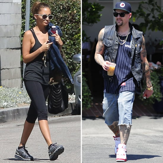Nicole Richie Hits the Gym as Joel Madden Does Lunch