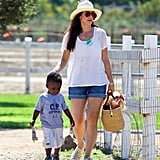Sandra Bullock and Louis went for a walk in LA.