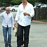 Matthew McConaughey went out to lunch his family on Easter Sunday in Texas.