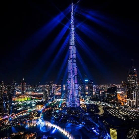 برج خليفة يضيف أغنية Skyfall إلى عرض أضواء الليزر