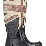 Hunters are an iconic UK brand and this pair says it all with its classic shape and Union Jack print — perfect for wearing to muddy outdoor concerts or rainy days in the city.  Hunter Vintage Union Jack-Print Wellington Boots ($220)