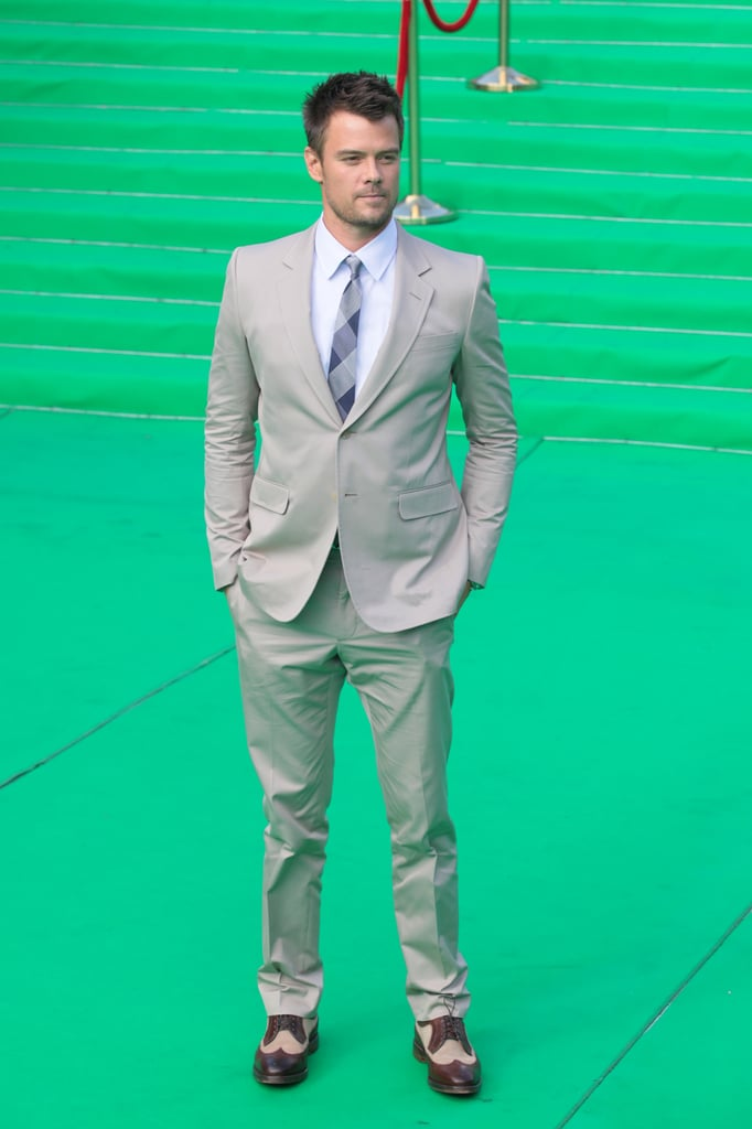Josh Duhamel suited up in Moscow.