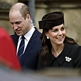 Kate Middleton and Prince William at Easter Service 2018