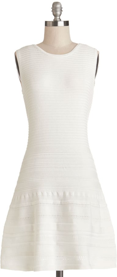 BB Dakota White Fit-and-Flare Dress