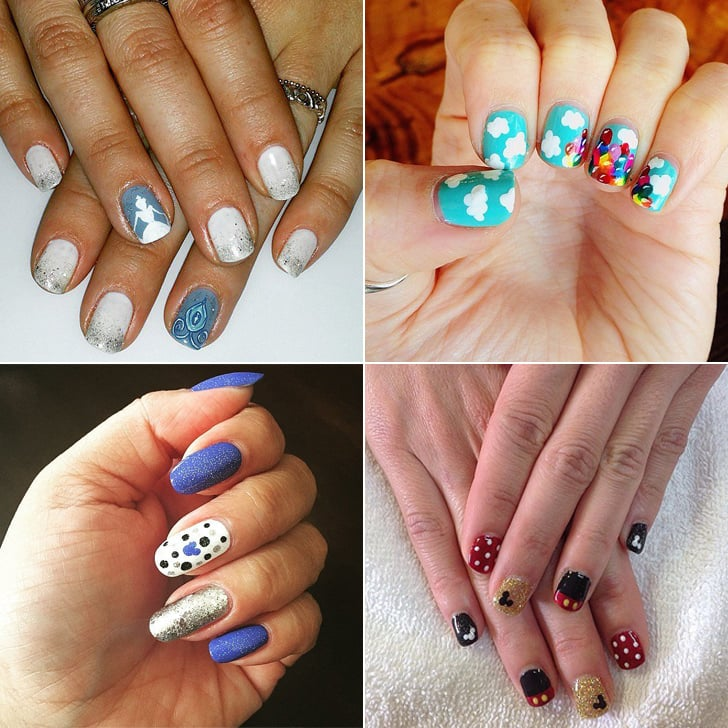 Disney Nail Art | Disneyland\'s 60th Anniversary | POPSUGAR Beauty