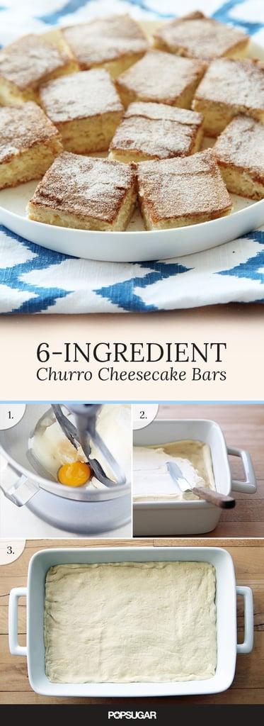 6-Ingredient Churro Cheesecake Bars