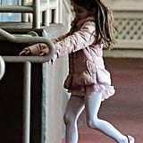 Suri Cruise went to a ballet class in NYC.
