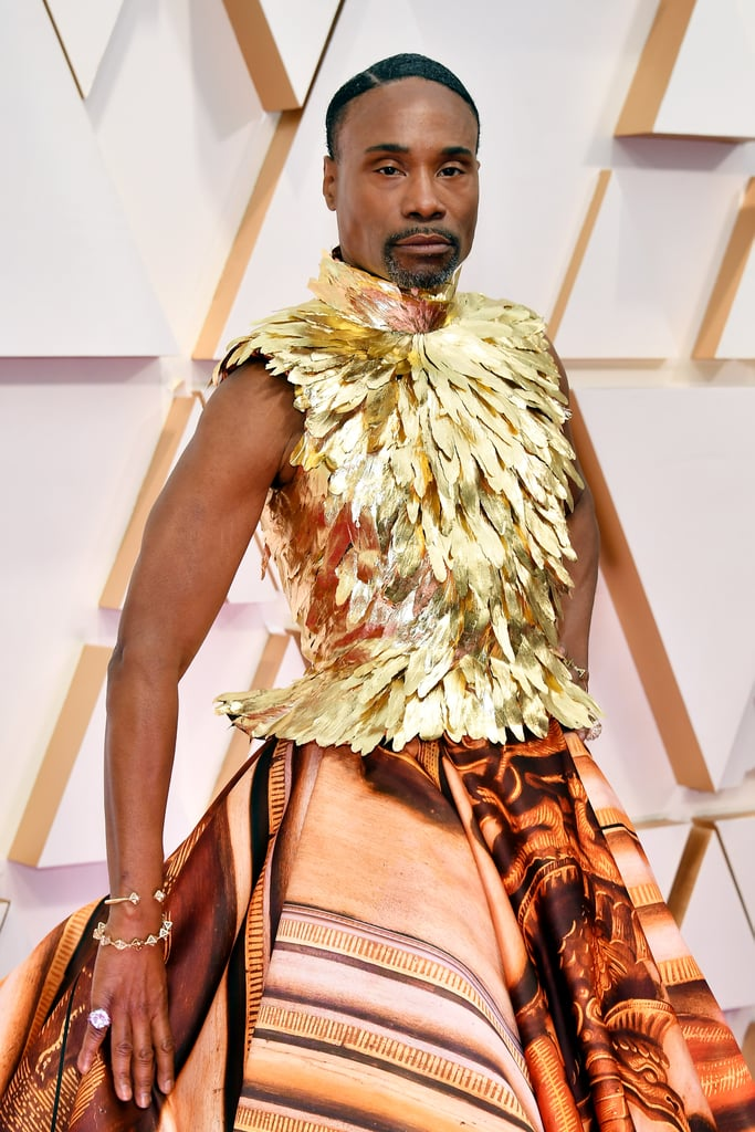 Billy Porter's Giles Deacon's Dress and at the Oscars 2020