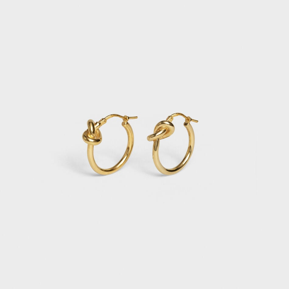 Celine Knot Small Hoops