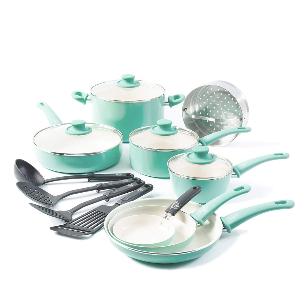 16-Piece Ceramic Non-Stick Cookware Set
