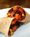 Low Calorie Vegan Sweet Potato and Black Bean Burrito