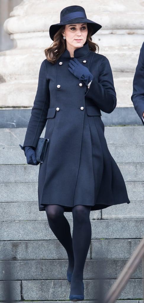 Kate Middleton Blue Carolina Herrera Coat