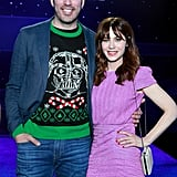 Drew Scott and Zooey Deschanel at the Star Wars: The Rise of Skywalker Premiere in LA