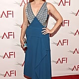 Amy Adams stunned in bright blue Roland Mouret at the AFI Awards.