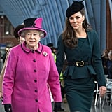 Kate Middleton and Queen Elizabeth at St. Pancras station.