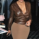 On Monday, Kim Kardashian dined out at Craig's in LA.