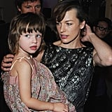Milla Jovovich and her daughter, Ever Anderson, share a close resemblance.