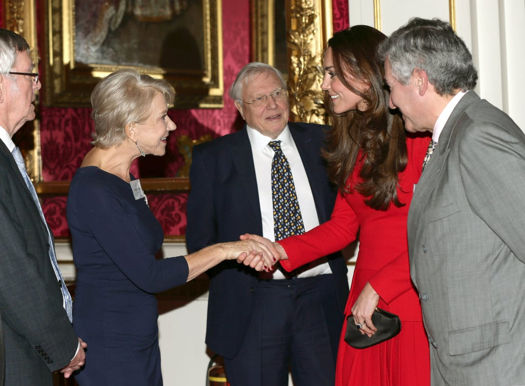 "Kate Middleton met Helen Mirren during an A-list party at the queen's house, just after her husband, Prince William, made a ""granny"" joke about the actress at the BAFTAs."