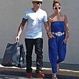 J Lo and Casper Are Loved Up During a Sunday Shopping Trip